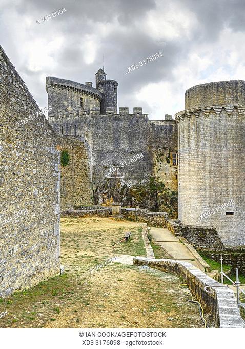 Bonaguil Castle, Bonaguil, Lot-et-Garonne Department, Nouvelle Aquitaine, France
