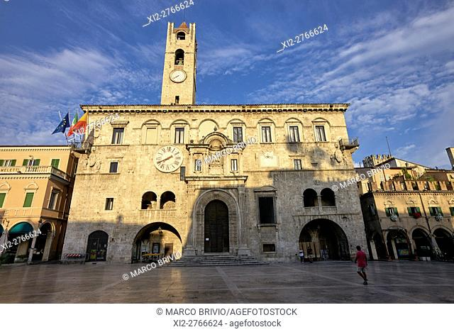 Piazza del Popolo, Ascoli Piceno. Ascoli Piceno is a town and comune in the Marche region of Italy. Many of the buildings in the central historical part of the...