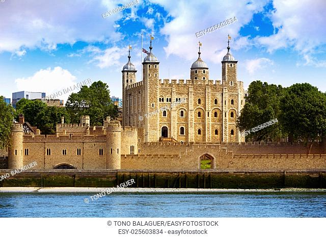 Tower of London in England view from outside