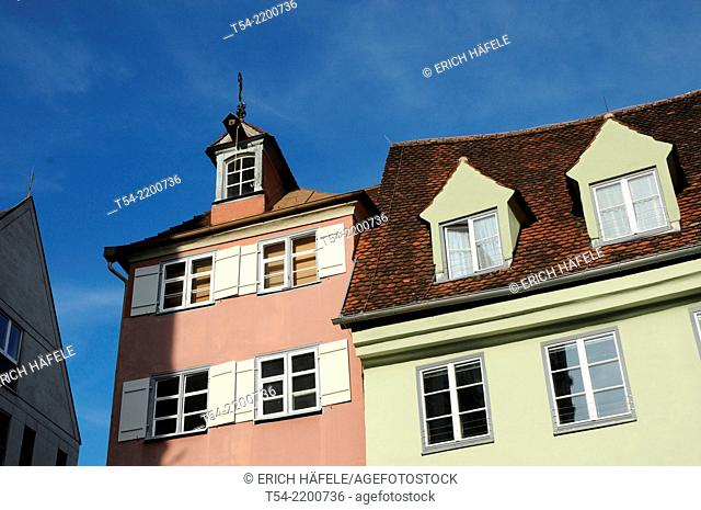 Old houses in the historic town of Memmingen