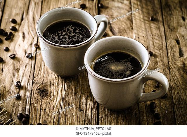 Cup of turkish coffee with sugar