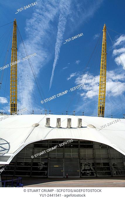 The O2, a large entertainment district formally known as the Millennium Dome, The Greenwich peninsula in South East London, London, England, UK