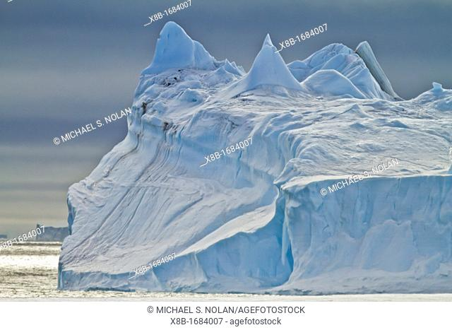 Tabular icebergs in and around the Weddell Sea during the summer months, Antarctica, Southern Ocean