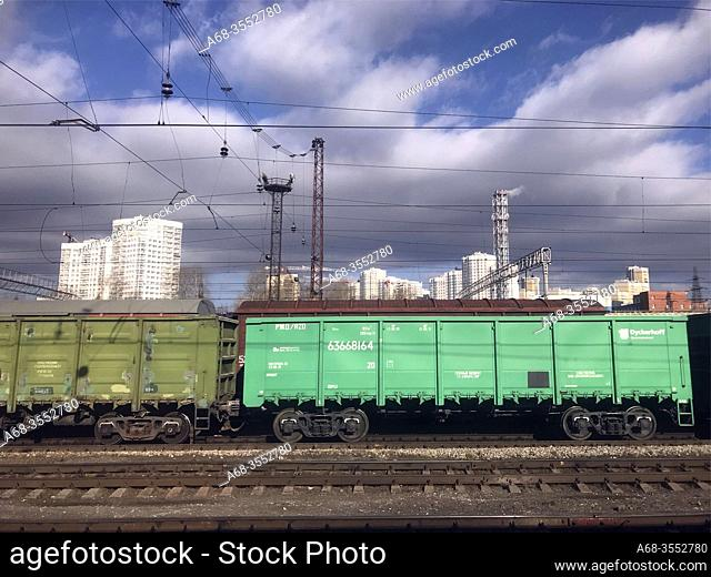 Nizhny Novgorod railway station in Russia. Along the Trans-Siberian Railway. Photo: André Maslennikov