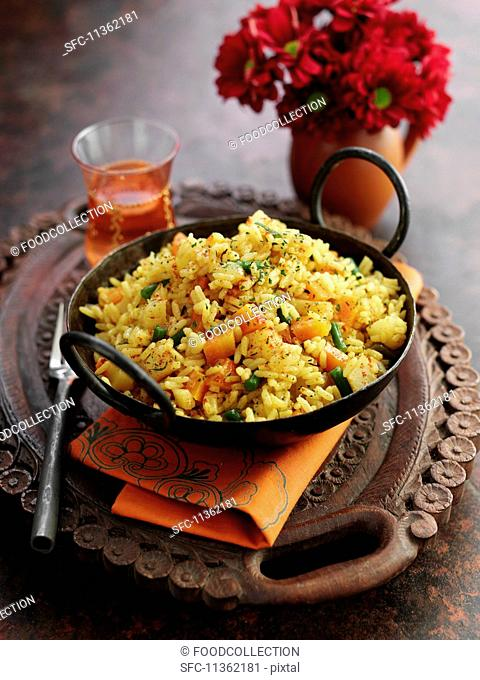 Biryani with vegetables (rice dish, Middle East)