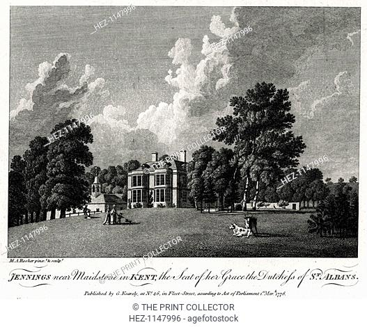 'Jennings near Maidstone in Kent, the Seat of her Grace the Dutchess of St Albans', 1776