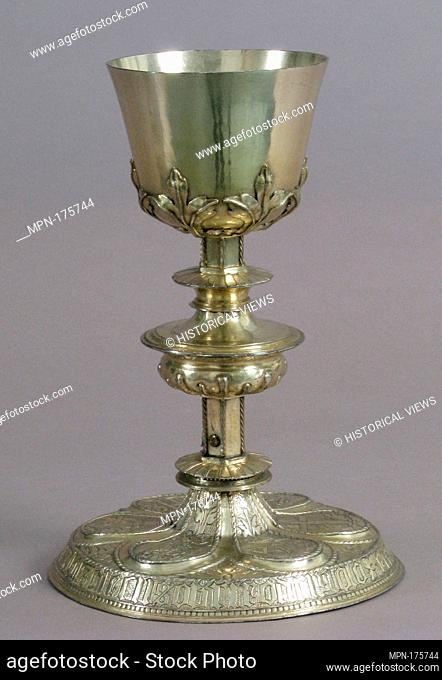 Chalice. Artist: Diego Muñoz; Date: 16th century; Geography: Made in Segovia, Spain; Culture: Spanish; Medium: Silver-gilt; Dimensions: Overall: 9 1/16 x 6 5/16...