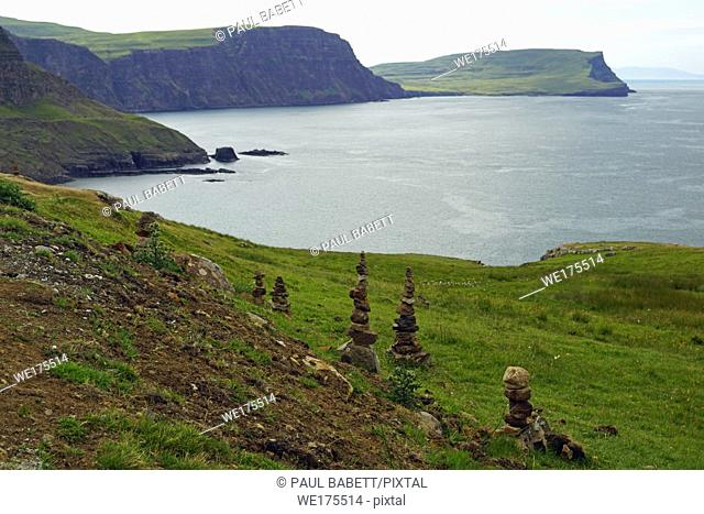 Neist Point is a small peninsula on the Scottish island of Skye and its lighthouse marks the westernmost point of the island