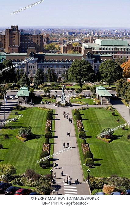 Garden with topiary at Saint Joseph's Oratory, Montreal, Quebec, Canada