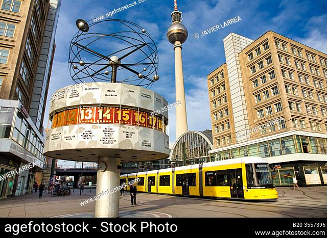 World Time Watch, Television tower, Alexanderplatz, Berlin, Germany