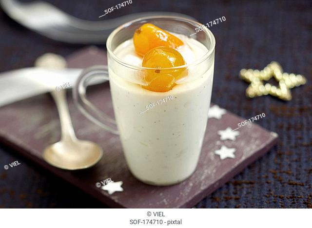 Vanilla delight with candied kumkuats
