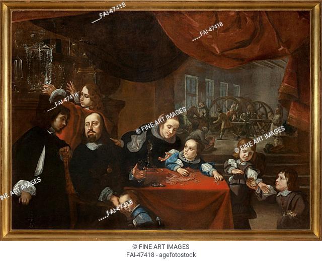 Dionysio Miseroni (1607-1661) and his Family by Skreta, Karel (1610-1674)/Oil on canvas/Baroque/c. 1653/Czechia/National Gallery