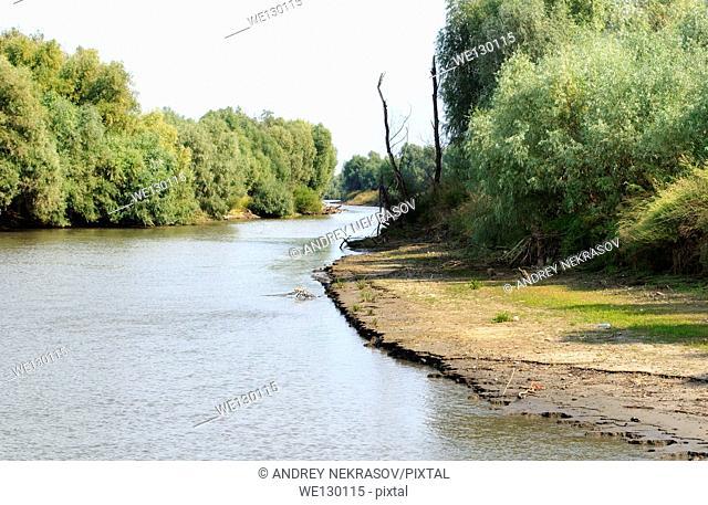 River landscape, Danube, Tulcea, Romania, Europe
