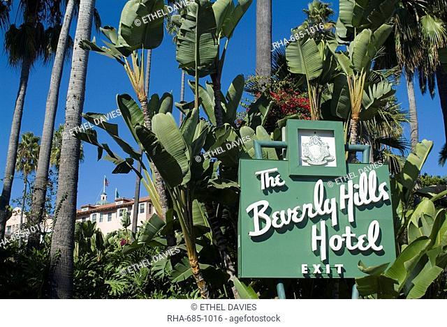 Beverly Hills Hotel, Beverly Hills, California, United States of America, North America