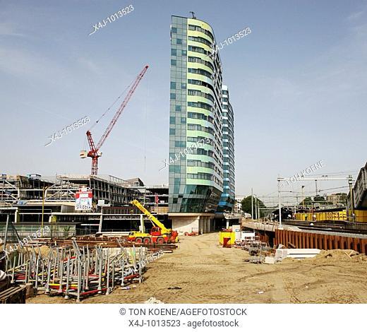 construction of an office in Arnhem, Netherlands