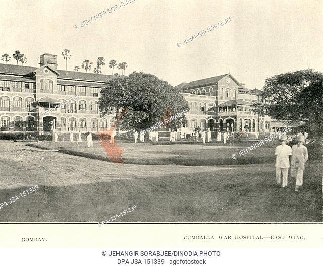 Old vintage 1900s Cumballa War Hospital now Parsee General Hospital, Kemps Corner, Bombay, Mumbai, Maharashtra, India, Asia