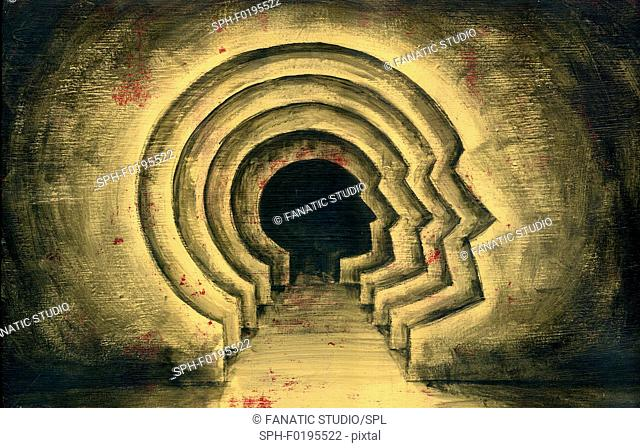 Illustration of sub conscious level