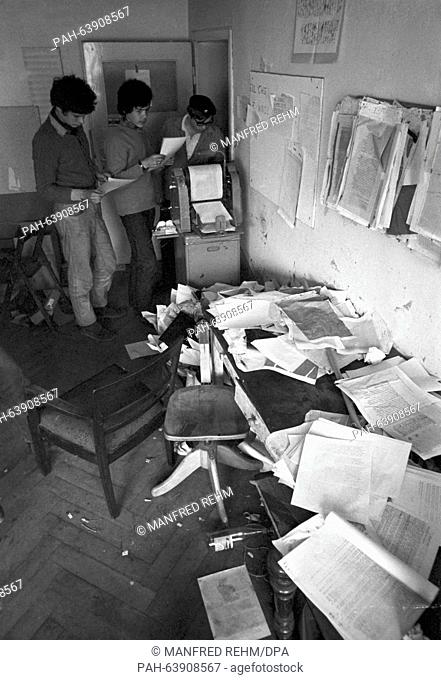 View of the SDS office, pictured during the preparations for actions against the emergency law in Frankfurt am Main on 13 May 1968