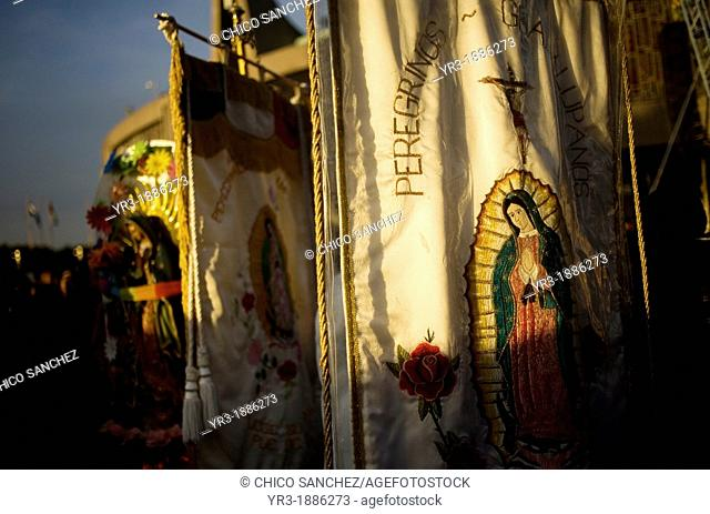 Images of the Our Lady of Guadalupe outside of the Our Lady of Guadalupe Basilica in Mexico City, December 9, 2012