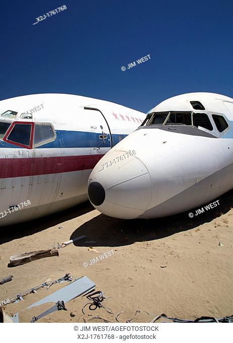 El Mirage, California - An scrapyard for aircraft parts
