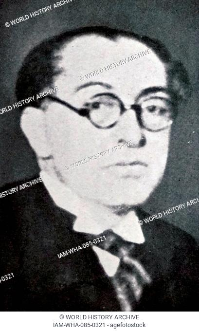 Photographic portrait of Tevfik Rüstü Aras (1883-1972) a Turkish politician and Foreign Minister of Turkey. Dated 20th Century