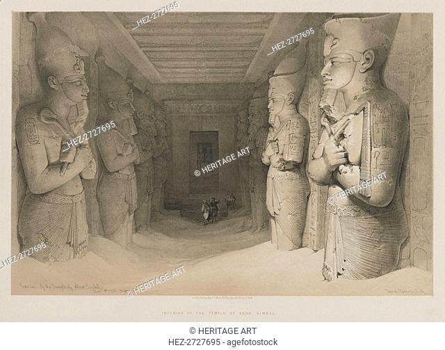 Egypt and Nubia, Volume I: Interior of the Temple of Aboo-Simbel, 1846. Creator: Louis Haghe (British, 1806-1885); F.G. Moon, 20 Threadneedle Street, London
