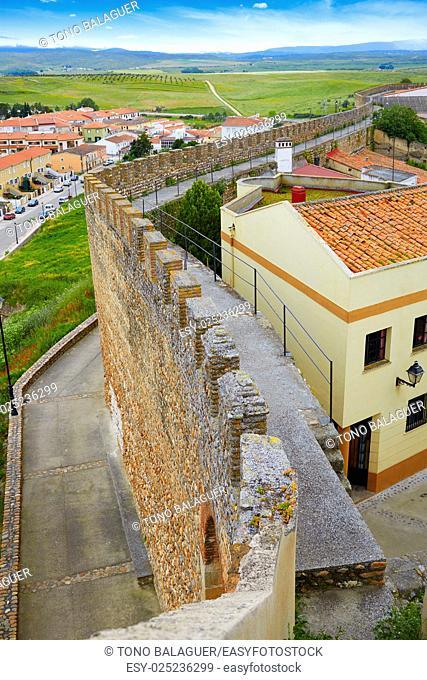 Galisteo fortress in Caceres of Extremadura Spain by the Via de la Plata way