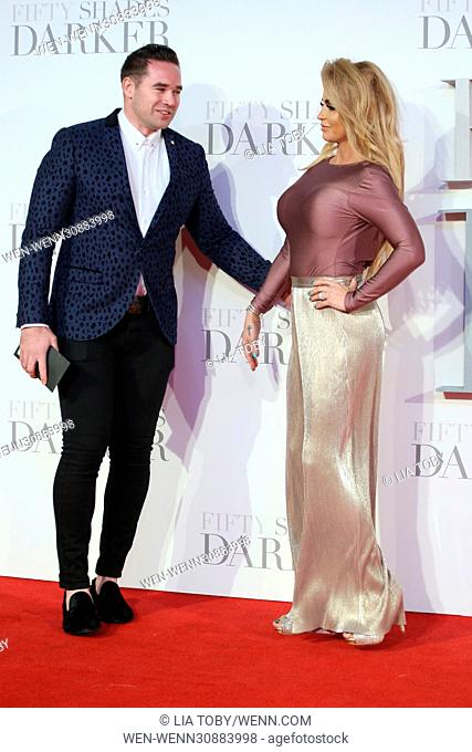 The UK Premiere of 'Fifty Shades Darker' held at the Odeon Leicester Square - Arrivals Featuring: Katie Price, Kieran Hayler Where: London