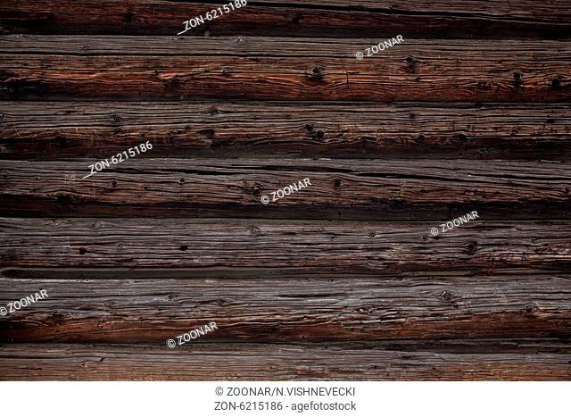 background of the log wall