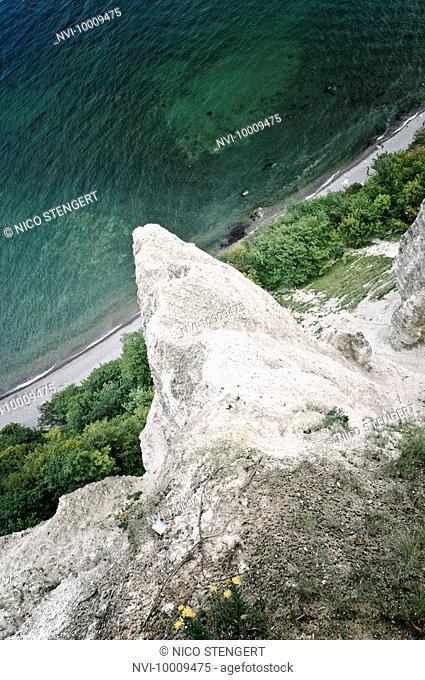Former site of Wissower Klinken cliffs, cretaceous rocks, chalk cliffs, Jasmund National Park, Ruegen, Mecklenburg-Western Pomerania, Germany, Europe
