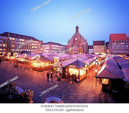 Nurnberg Christmas Market. Nurnberg, Germany