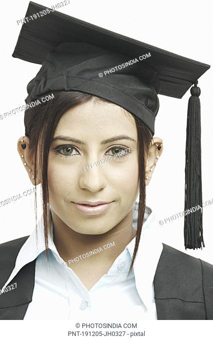 Portrait of a female graduate