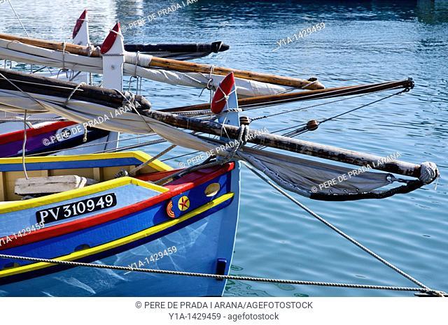 Sardinals moored in Port la Nouvelle harbour