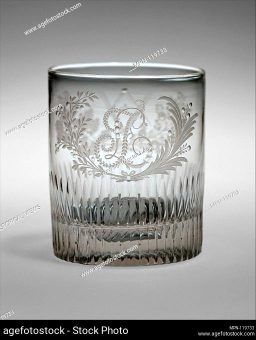 Tumbler. Maker: Bakewell, Page & Bakewell (1808-1882); Date: ca. 1825-30; Geography: Made in Pittsburgh, Pennsylvania; Culture: American; Medium: Blown, cut