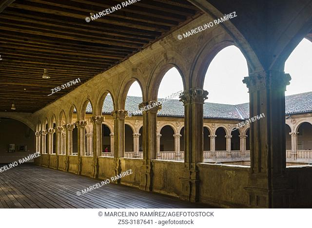 Upper cloister, Convento de San Esteban is a Dominican monastery situated in the Plaza del Concilio de Trento in the city of Salamanca