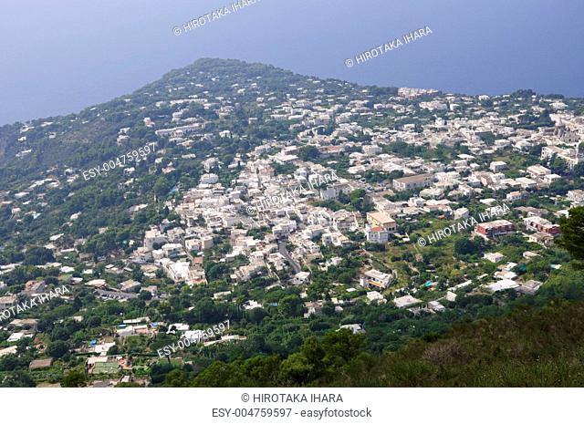 Capri view from Monte Solaro in Italy