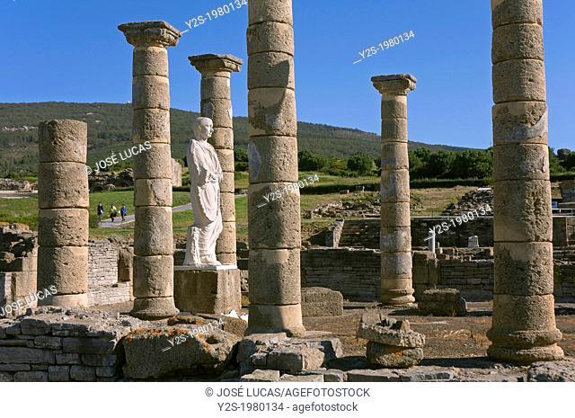Roman ruins of Baelo Claudia - basilica, Tarifa, Cadiz-province, Andalusia, Spain, Europe