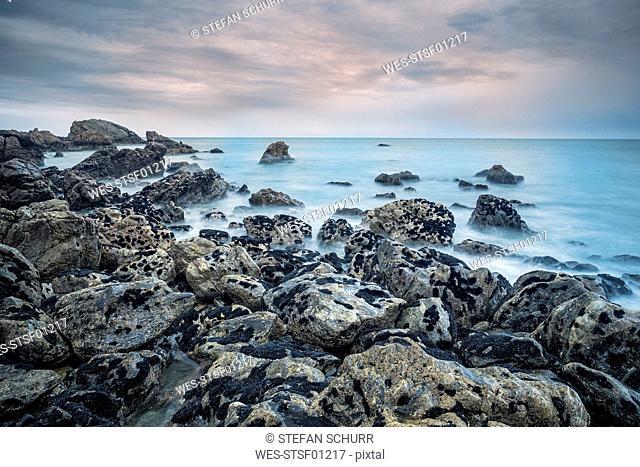 New Zealand, South Island, Westcoast, Woodpecker Bay, rocky coastline