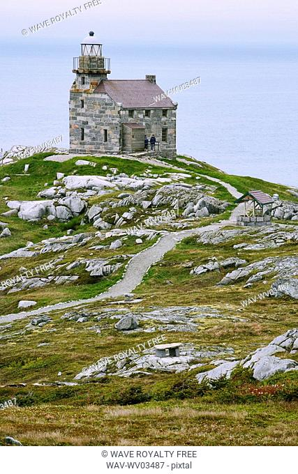 View of lighthouse, Rose Blanche, Newfoundland, Canada