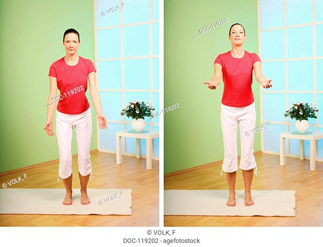 catch some strength - yoga exercise