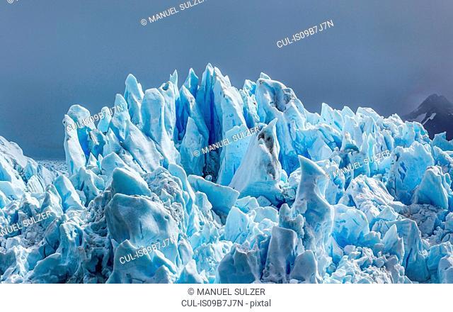Detail of Perito Moreno Glacier, Los Glaciares National Park, Patagonia, Chile