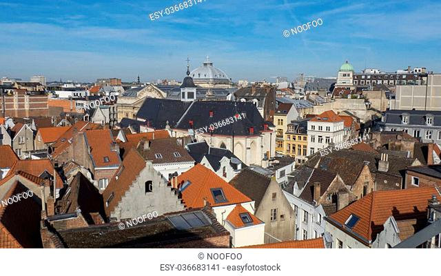 Cityscape of Brussels on a nice summer morning