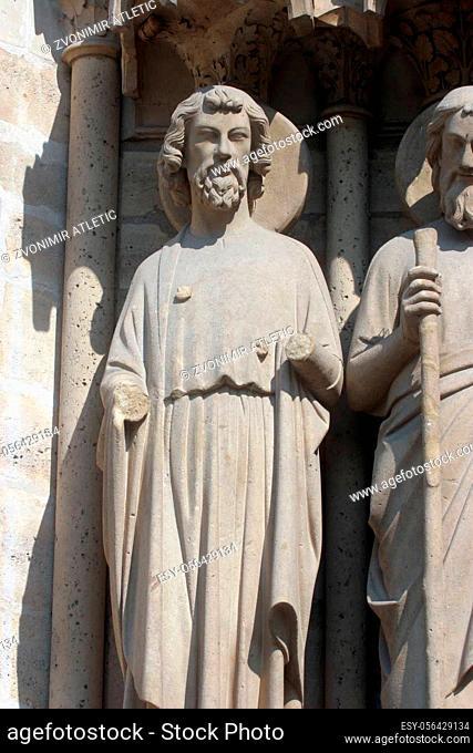 Saint Bartholomew, Notre Dame Cathedral, Paris, Last Judgment Portal