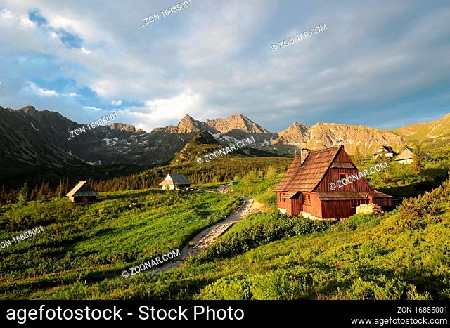 Cottage in a valley surrounded by the Tatra Mountains, Poland