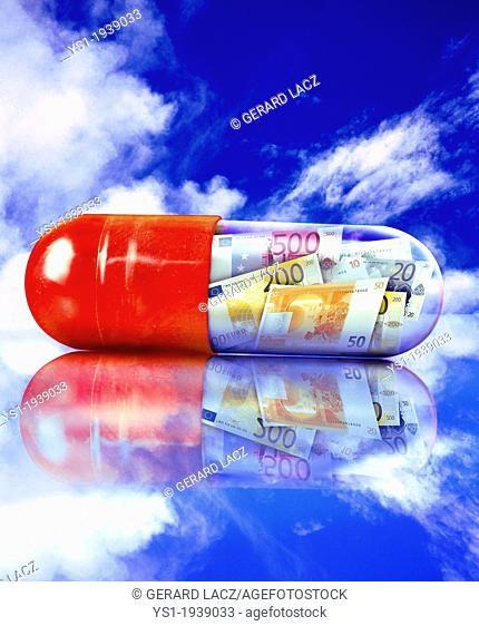 Symbolic Image about the Price of Medecine