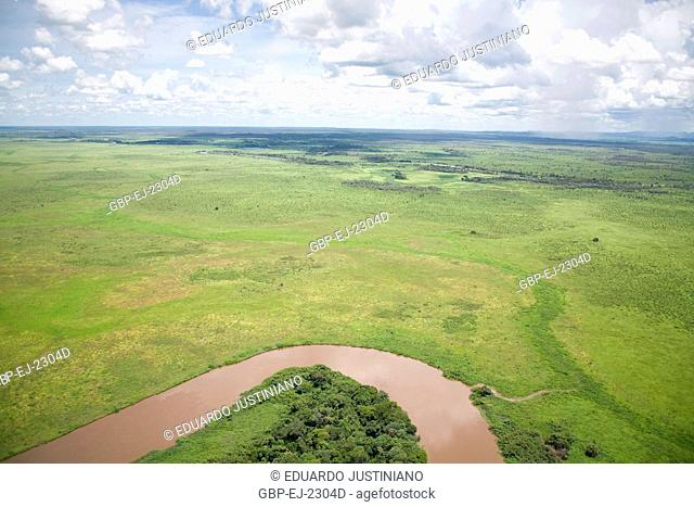 Miranda River and Azeire Hill, Spies Miranda - Corumbá, Mato Grosso do Sul, Brazil