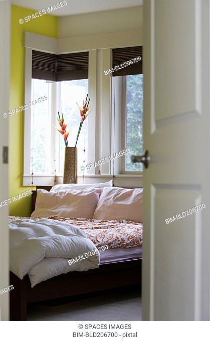 Bedroom Through a Doorway