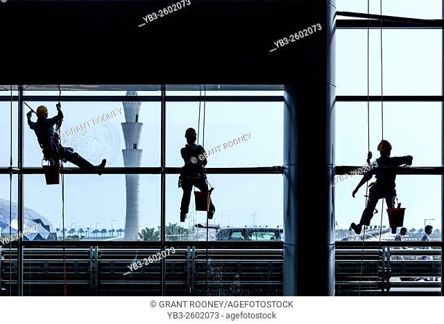 Window Cleaners, Hamad International Airport, Doha, Qatar