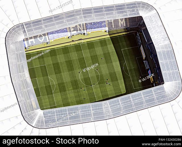 Game scene during the game. GES / Football / 1.Bundesliga: TSG 1899 Hoffenheim - Hertha BSC Berlin, aerial photo PreZero Arena, 16.05