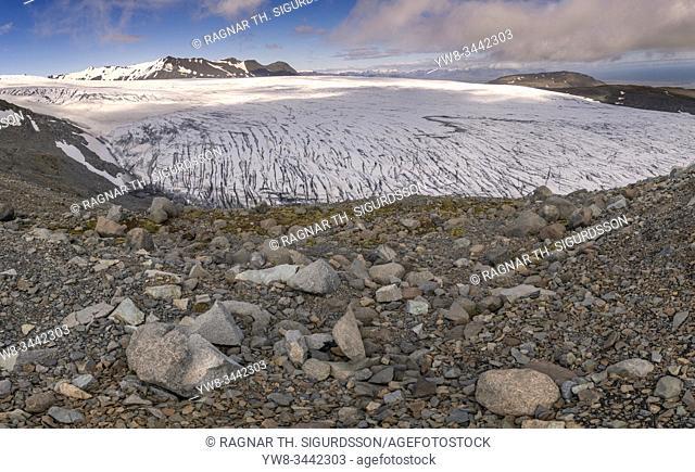 Skalafellsjokull Glacier, Vatnajokull National Park, Unesco World Heritage Site, Iceland